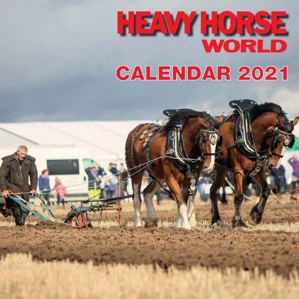 2012  HEAVY HORSES 20 X 25 CM WALL CALENDAR NEW AND SEALED.